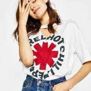 Bershka Red Hot Chili Peppers t shirt